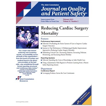 The Journal on Quality and Patient Safety