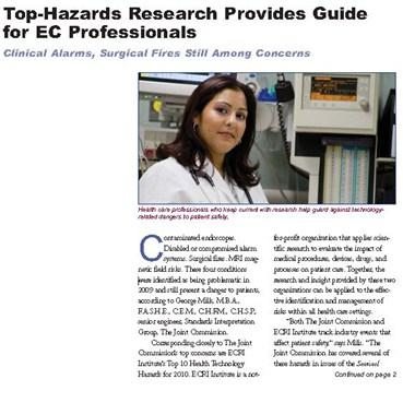 Top-Hazards Research Provides Guide for EC Professionals