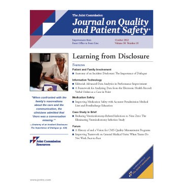 A complimentary article from the Journal on Quality and Patient Safety